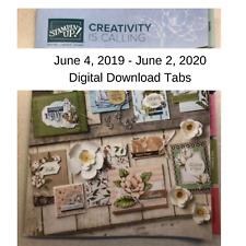 Stampin Up Catalog Idea Book Paper Cardstock Tool Catalog Tab June 2019-June2020