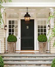 Brass Door Knocker Polished Letter/Initial 'S' Hamptons Coastal Home Decor