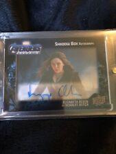 2020 Upper Deck Endgame Shadowbox Elizabeth Olsen Autograph 02/25 on card Auto!