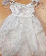 Children's White Fairy Fancy Dress Costume Snowflake Design Dress Up Aged 1-2