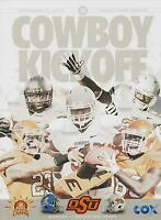 Kansas Jayhawks vs Oklahoma State Cowboys Football Program 11/9/13