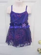 Purple Sequin Competition Dance Dress Costume MC Medium Child 8 10