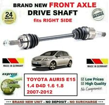 FOR TOYOTA AURIS 1.4 D4D 1.6 1.8 2007-2012 BRAND NEW FRONT AXLE RIGHT DRIVESHAFT