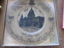 Vintage plate glass Charles & Diana wedding, 1981 limited Edition Pettis Studio