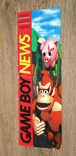 Nintendo pubblicità ad Flyer GAME BOY News Donkey Kong Kirby Super Mario Zelda paese