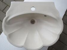 Waschbecken Waschtisch Duravit Muschelform Farbton Jasmin