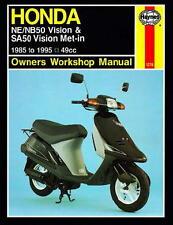 Haynes Honda Scooter NE NB50 Vision SA50 Vision Met-in 1985-1995 Owners Works...
