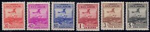 1948 Ecuador SC# 497-502-25th Anniversary(in 1945)of the First Postal Flight-M-H