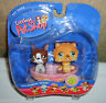 Littlest Pet Shop #117 #118 Chow & Boston Terrier Puppy Dogs in Bathtub NIB