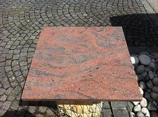 TISCHPLATTE GARTENTISCH WASCHTISCHPLATTE GRANIT ROSSO MULTICOLOR 69x69x3 cm