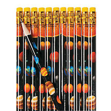 12 Solar System Pencils|Space Party|Party Favours|Party Bag Fillers
