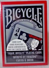 Bicycle Tragic Royalty Playing Cards Glow Under Blacklight 2008 NEW