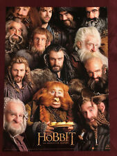 "HOBBIT DWARVES POSTER 12X16""NM SHIPPD FLAT LORD OF THE RINGS TOLKIEN"