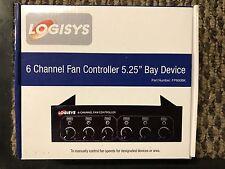 """Logisys 6 Channel Fan Controller 5.25"""" Bay"""