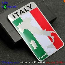 Emblème insigne 3D autocollant drapeau botte Italie Italy voiture sticker