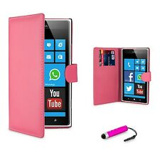 NEW PU LEATHER WALLET CASE COVER FOR NOKIA LUMIA 530 + SCREEN PROTECTOR