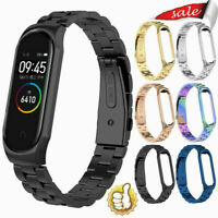 For Xiaomi Mi Band 4 Metal Smart Wrist Bracelet Stainless Steel Watch Strap Band