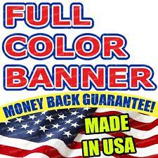 4'x8' Banner FULL Color Custom 13oz Vinyl High Quality FREE SHIPPING flg