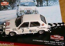 """Citroen Visa 1000 PISTES /""""J.C Andruet/"""" RMC 1985 1//43 IXO NEUF BOITE VITRINE"""