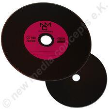 Vinyl CD-R  700 MB Schallplattendesign, Datenseite schwarz Lila 10 Stück