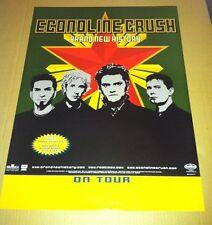 ECONOLINE CRUSH 2001 Retail PROMO POSTER of Brand new History CD USA 18 x24 MINT