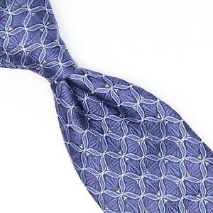 Robert Talbott Best of Class Mens Silk Necktie Tonal Blue White Geometric Woven