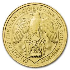 1/4 oz 999 Gold Goldmünze 25 Pfund The Queens Beasts The Falcon Falke 2019