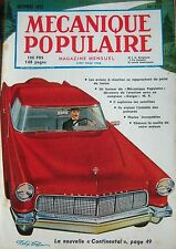 REVUE MECANIQUE POPULAIRE N° 115 VOITURE CONTINENTAL AVION A REACTION 1955