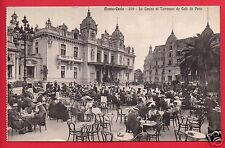 MONTE CARLO CASINO TERRASSES DU CAFE DE PARIS PEOPLE TABLES  ITALY  POSTCARD