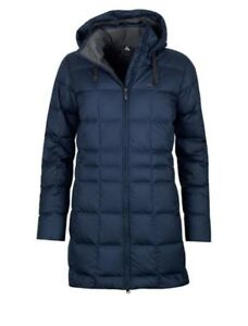 Macpac Women's Aurora Hooded Down Jacket Navy Blue sz 10, Small