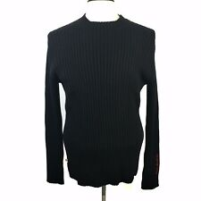 Polo Jeans Co. Ralph Lauren Men's Sweater Black Pullover Vintage Knit Spell Out