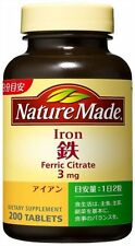 Nature Made Iron ferric citrate 3 mg 200 Tablets Blood Health Beauty Japan