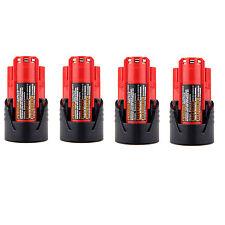 4x 12V New For MILWAUKEE M12 48-11-2401 12 Volt Power Tools Li-ion Battery Packs