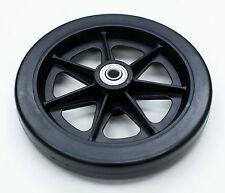 """Rollator Walker Parts 6"""" Front Rear Wheel 5/16"""" Black Karman C46-BK 1 pc NEW"""