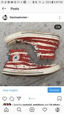 Converse distressed American Flag sneakers! 11. GRUNGE deluxe