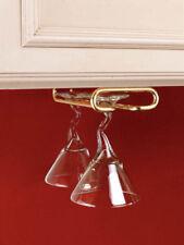 BNIB Rev-A-Shelf Brass Under Cabinet Stemware Holder - 11 inch
