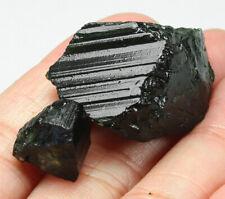 67.3Ct Nigerian Natural Green Tourmaline Crystal Facet Rough Specimen YNR6