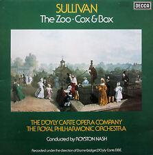 Sullivan The Zoo Cox & Box D'Oyly Carte Opera Company Decca TXS 128 Gatefold EX