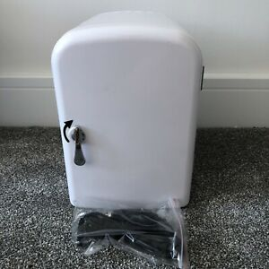 L4 Litre Portable Home Car Mini Fridge UK Dual Cooler And Heater With Cable