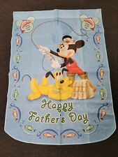 Mickey Mouse Walt Disney Large Banner Flag Hamilton Collection Father's Day