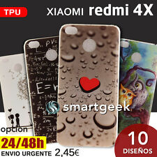 FUNDA TPU Gel dibujos para XIAOMI REDMI 4X dibujo colores case print color frase