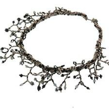 TWIGGY PEWTER BLACK SEED BEADS HEMATITE necklace