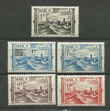 Protectorat Français MAROC 1947. Complete series 5 Timbres* neufs     (3730)