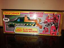 Transformers trasformers gig 4wd HILUX AUTOGRU autorobot anni 80