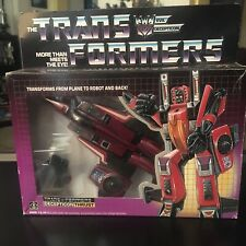 Vintage 1985 Hasbro G1 Transformers Thrust Complete W/Original Box Instructions