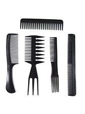 5pc Set per capelli Styling pettine PROFESSIONALE NERO PARRUCCHIERI BARBIERI Tasca