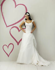 424W SWEETHEART 5960 SZ 18 $1055 CREAM & BURG WEDDING FORMAL GOWN DRESS