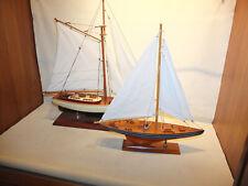 Segelboot Modellsammlung --2 Fertigmodelle aus Holz--