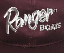 Vtg Ranger Boats Trucker Hat Snapback Kudzu Burgundy Autographs
