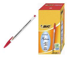 Penna a sfera BIC CRISTAL ROSSA  punta media confezione 50 penne ROSSE 1 box